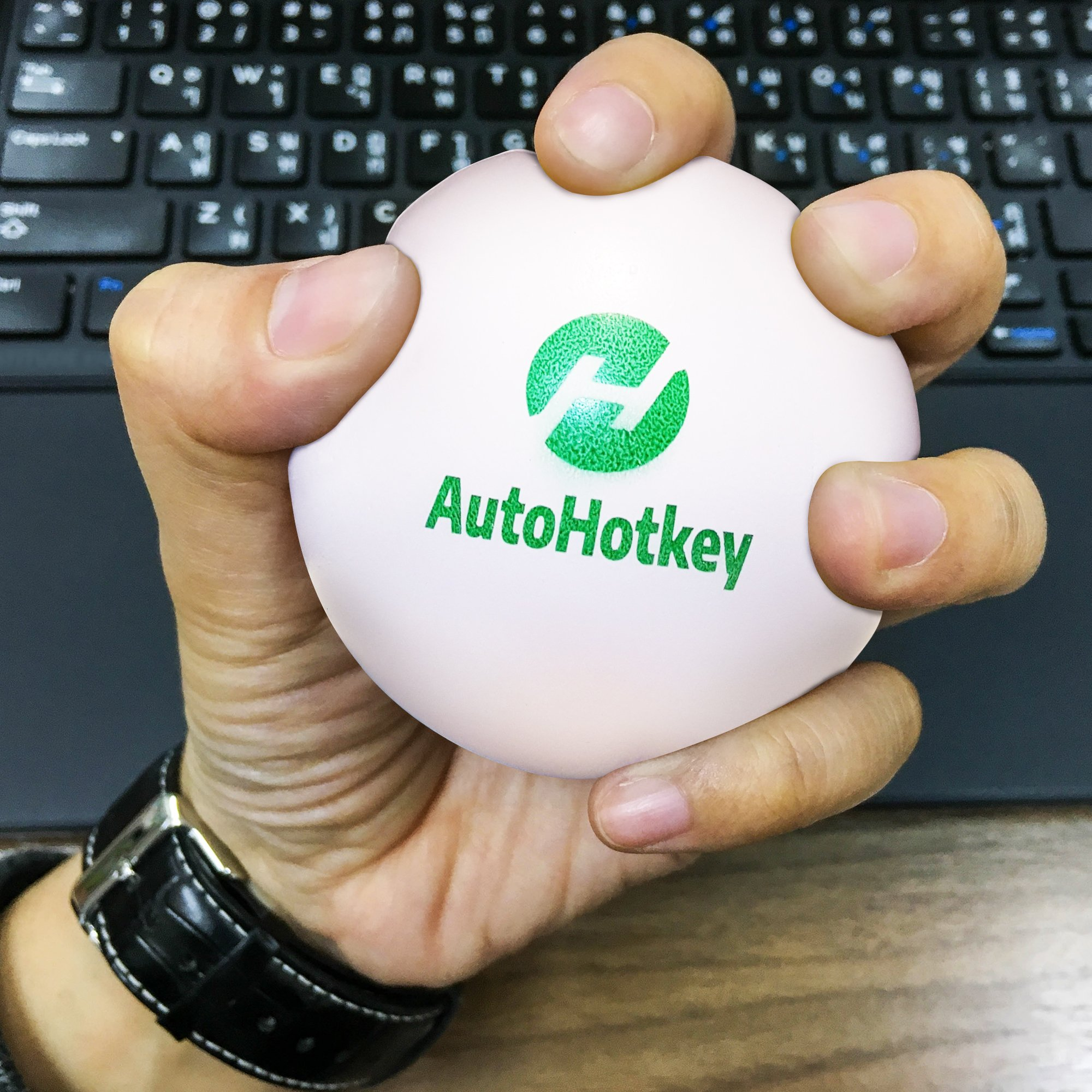 White Squishy AutoHotkeyStress Ball